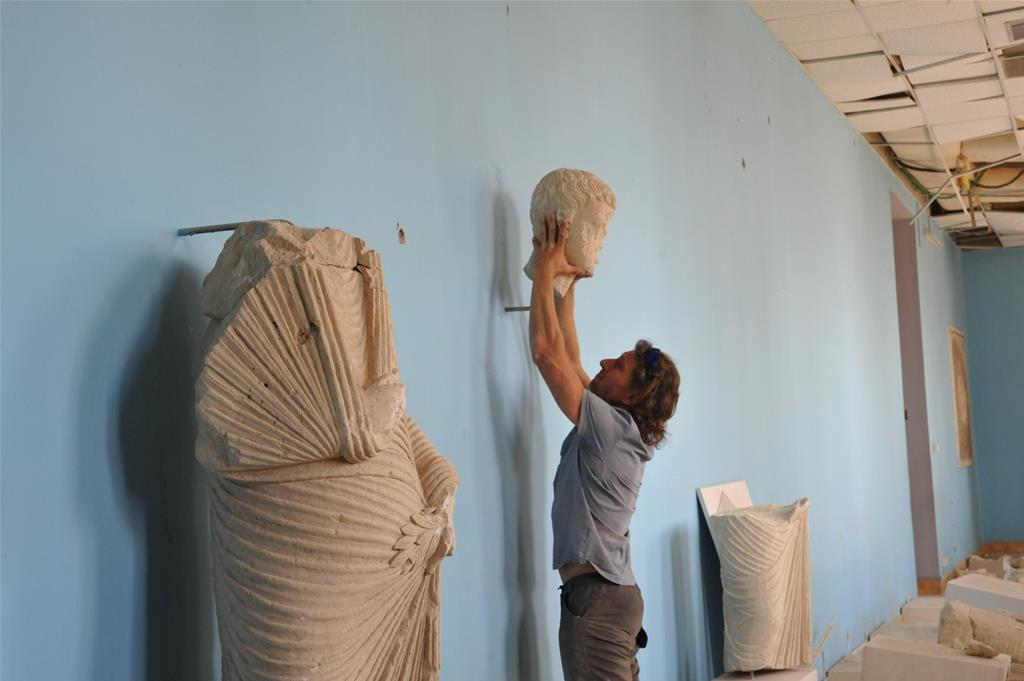 A mission to save what's left of Palmyra's artefacts after its destruction by ISIS troops
