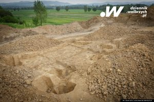 Excavations on Kłodzko ring-road (by Dziennik Wałbrzych)