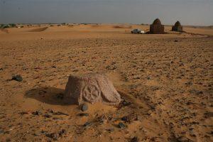 Stone capital of a column at Hag Magid site