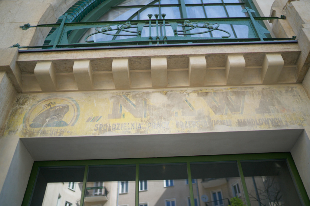 Pre-WW2 painted signboards found in Warsaw