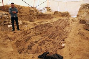 Excavations at the site (by Al-Ahram Weekly)