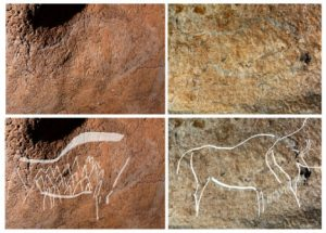 Cave art found in Atxurra caves (by The Local)