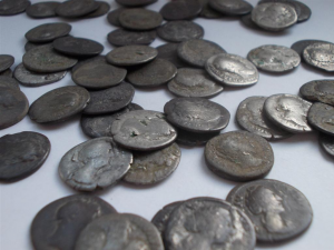 Coins found during the construction (by S. Miłek)