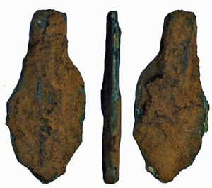 Bronze Age copper-alloy knife blade from the barrow (by Culture24)