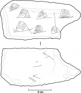 Interpretation of the engravings on the slab (by Popular Archaeology)