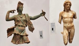 Sculptures found at Aptera (by Greek Reporter)