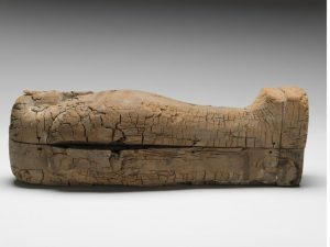 Sarcophagus containing the mummified remains (by Independent)