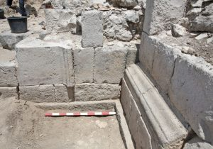 Remains of the Roman gate (by The Jerusalem Post)