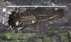 Skeleton at Hemmaberg (by The Guardian)
