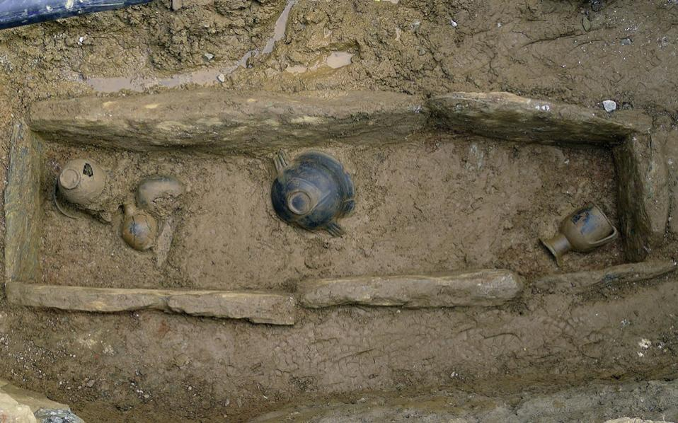 Rare tomb unearthed on Lesbos