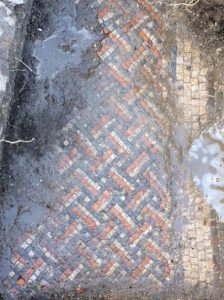 Roman mosaic from the site (by New York Times)