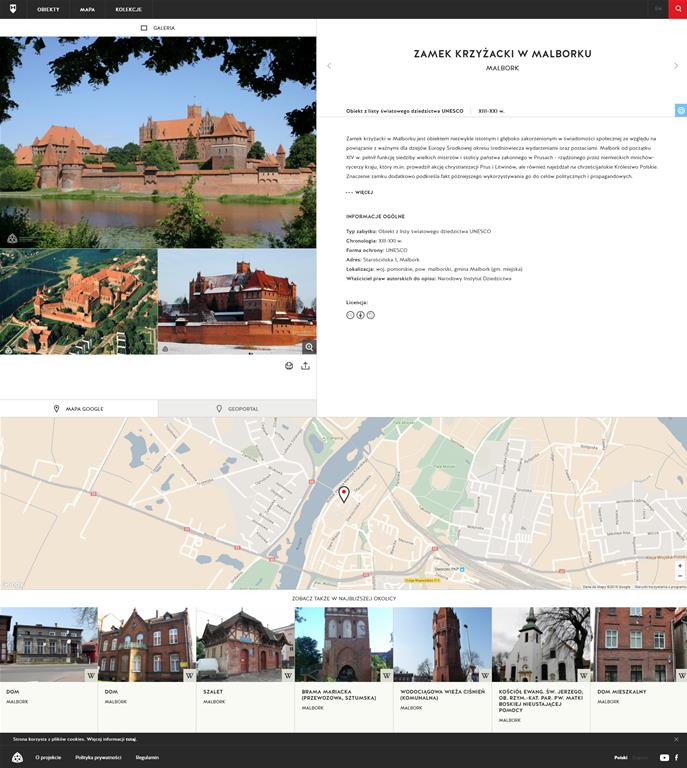 Polish monuments presented on a new official website