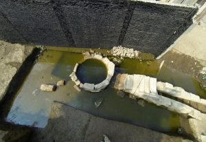 The site of the nilometer device (by National Geographic)