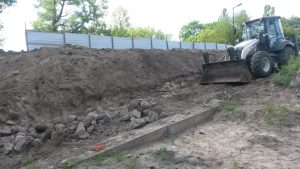 Demolished slip-way (by TVN Warszawa)