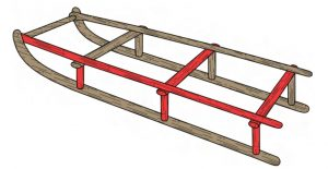 Artist's reconstruction of the sledge (by Glacier Hub)