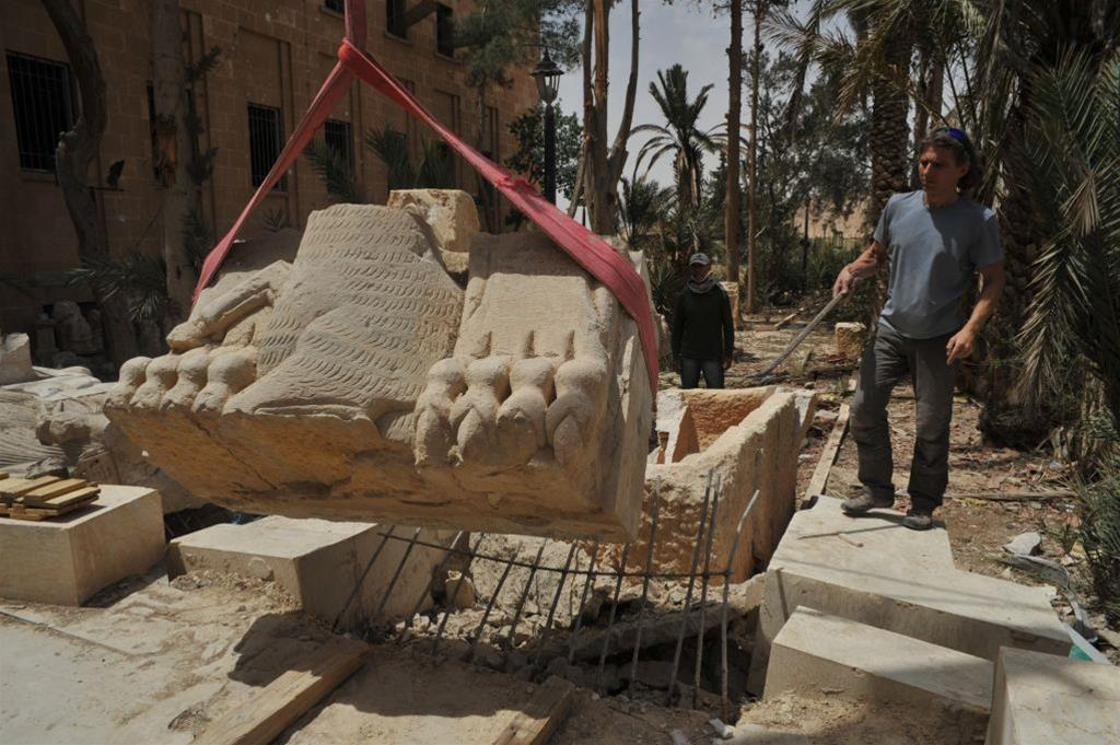 Rescue of Palmyra's antiquities continues