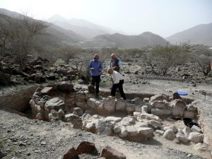 Excavations at Wadi Al Hilo site (by The National)