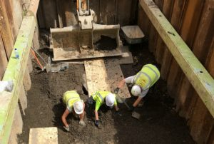 Excavation site (by Lincolnshire Echo)