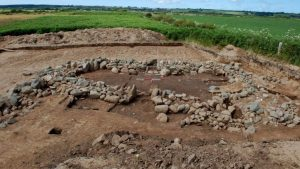 The excavated site of the village (by BBC News)