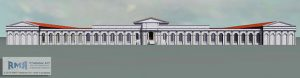Artistic reconstruction of the monumental arcade (by The Telegraph)