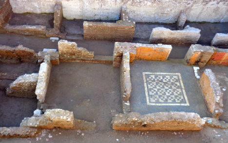 Construction of new subway line uncover Roman buildings