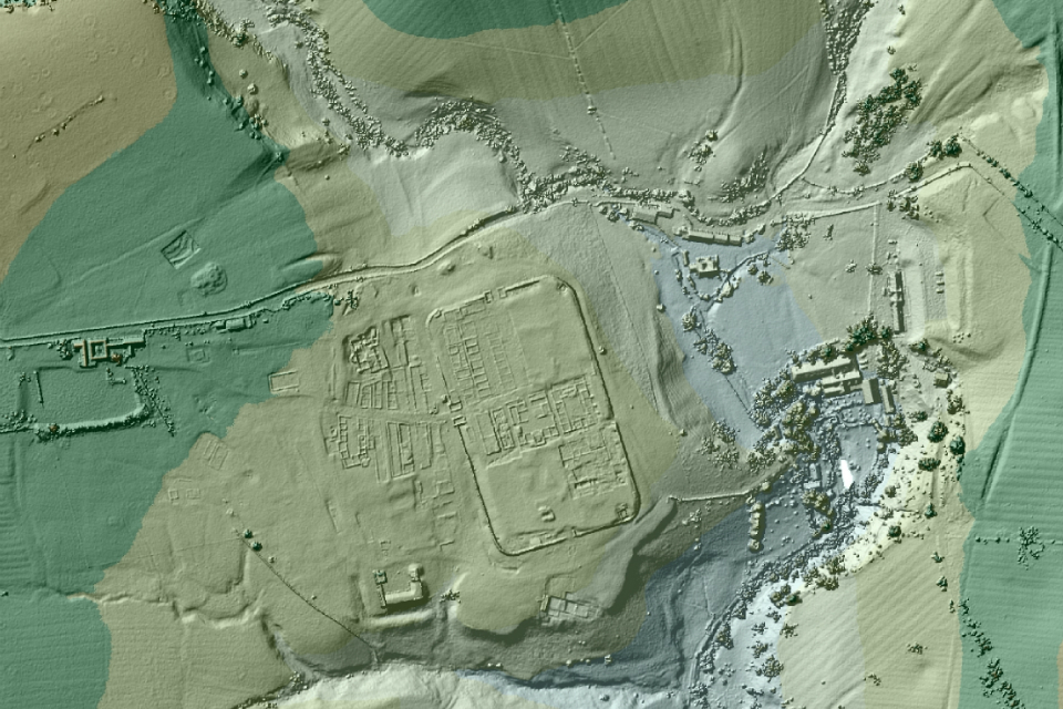 LiDAR technology reveals ancient Roman roads