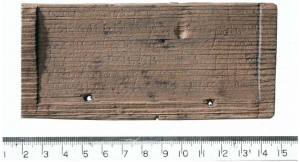 One of the tablets discovered at the site (by Independent)