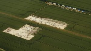 Aerial view of the site (by BBC News)
