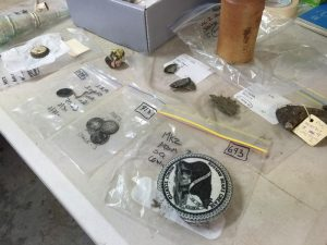 Artefacts discovered at the site (by SBS)