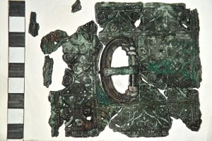 Decorated bronze belt plate (by Past Horizons)