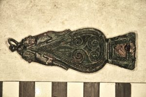 Decorated strap end (by Past Horizons)