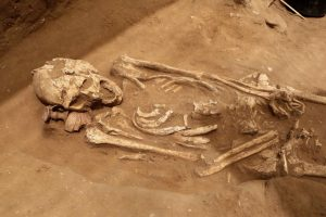Skeleton buried at the cemetery (by Haaretz)