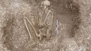 One of the discovered burials (by BBC News)