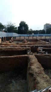 Foundation walls at the site (by TVN Warszawa)
