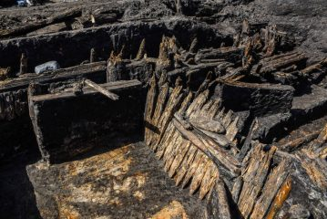 Wooden constructions discovered in city's Old Town