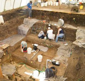 Excavations at the site (by Western Digs)