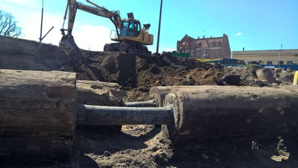 Wooden pipes discovered in Gdańsk
