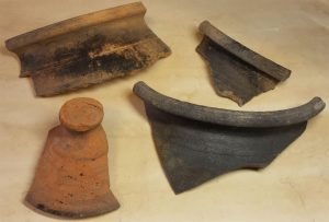 Pottery shards discovered during excavations (by Muzeum w Gliwicach)