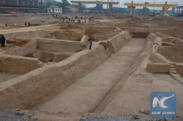 Yinxu oracle site reveals remains of a canal