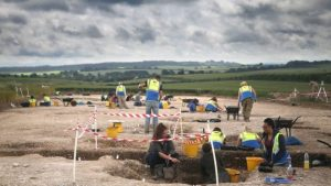The site of excavations (by BBC News)