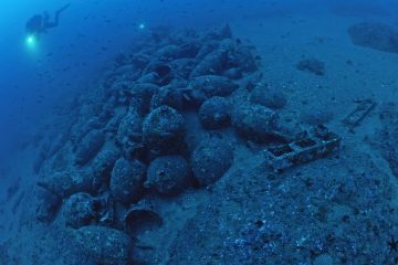Pile of ancient vessels found on the shore of Sicily