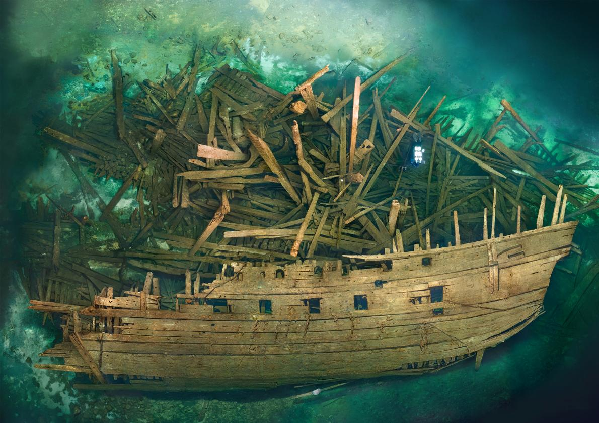 Scientists study a 17th cent. battleship that sunk in the Baltic Sea