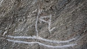 Vandalised rock art (by The Local)