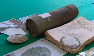 18th century time capsule from Town Hall opened