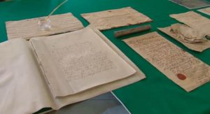 Part of the documents found within the time capsule  (by TVN24 Wrocław)