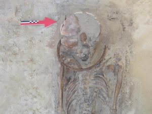 A deviant burial with a scythe placed on the deceased neck (by Elżbieta Gajda)