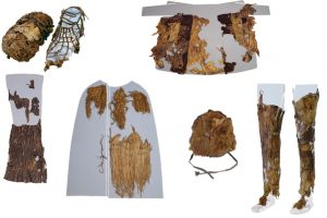 Ötzi's clothes (by Institute for Mummies and the Ice Man)