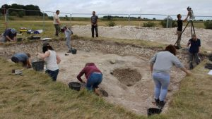 Excavations at Durrington Walls (by BBC News)