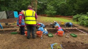 Excavations at the site (by BBC News)