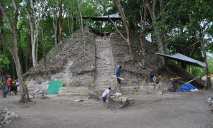 Excavations at Xunantunich (by The Guardian)